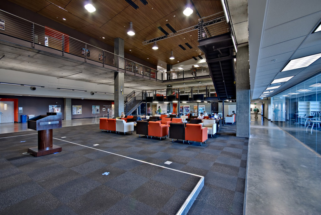 ASU Cronkite Final-Wood Lobby Overview